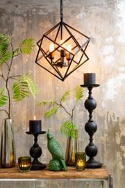Hanglamp DRIZELLA mat zwart met 3 lampen