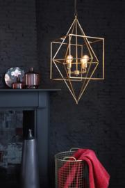 Hanglamp DRIZELLA goud met 4 lampen