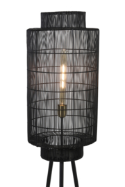 Vloerlamp  GRUARO mat zwart-antiek brons