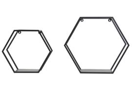 Wandrek S/2  HUAL mat zwart