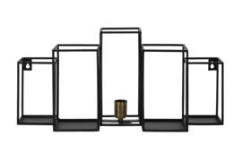 Wandlamp BALLY mat zwart
