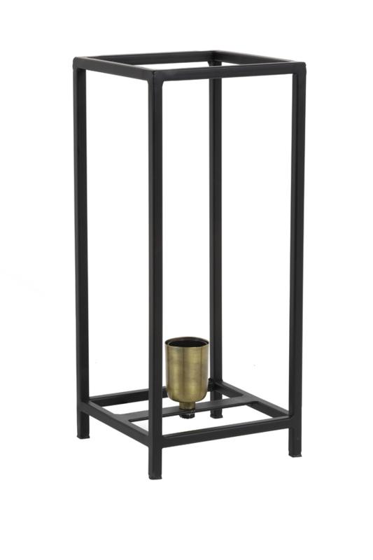 Tafellamp MARLEY mat zwart-ant brons
