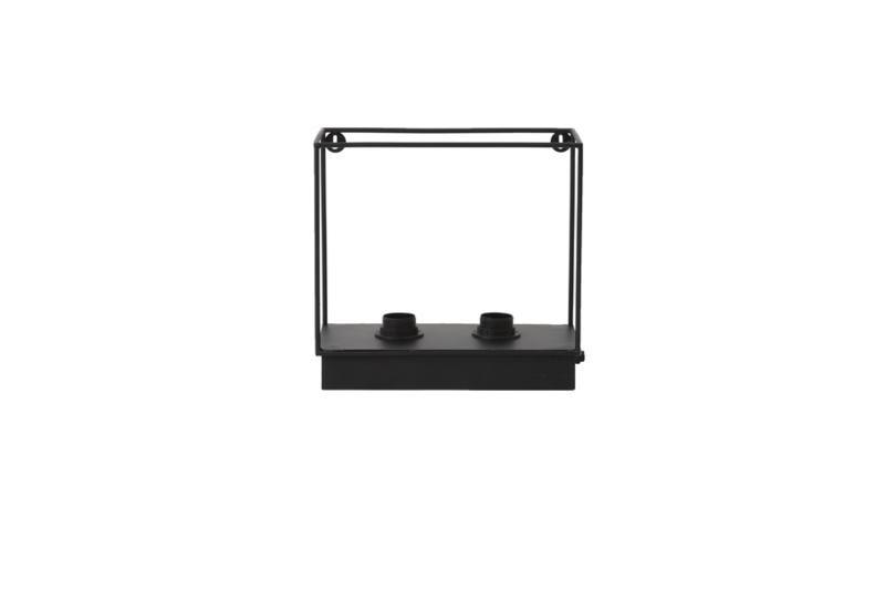 Wandlamp 2L RAIKO mat zwart