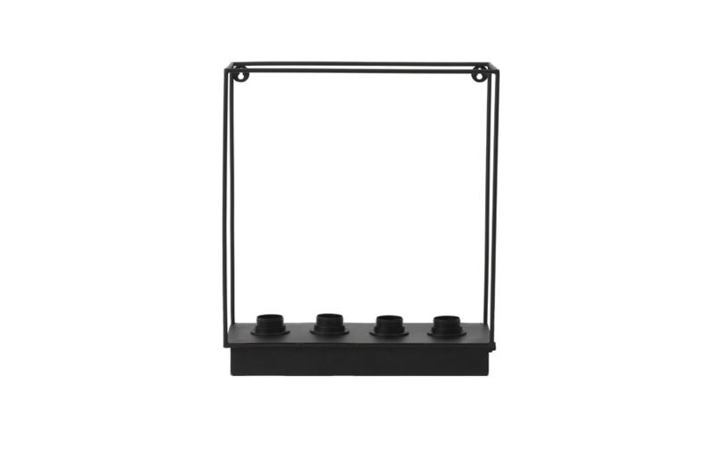Wandlamp 4L  RAIKO mat zwart