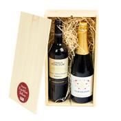 Kerstpakket organic wine de luxe