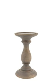 Wooden Candle stand Finn L natural