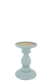 Wooden Candle stand Finn M old blue