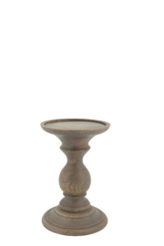 Wooden Candle stand Finn M natural