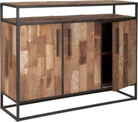 Dressoir, 3 deuren, 1 open vak 100x134x40 cm