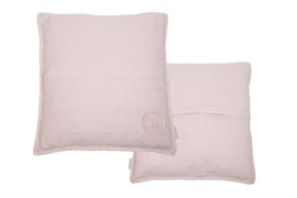 Vintage Linen Cushion old pink