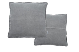 Vintage Linen Cushion dark grey