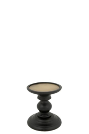 Wooden Candle stand Finn S black