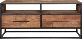TV meubel, 2 laden, 2 open vakken 55x125x40 cm