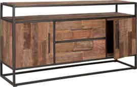 Dressoir, 2 laden, 2 deuren, 1 open vak 77x150x40 cm