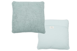 Knitted Cushion Colmar old blue