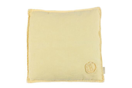 Linen Cushion pastel yellow