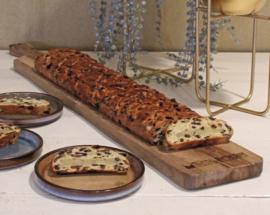 Houten plank inclusief kerstbrood