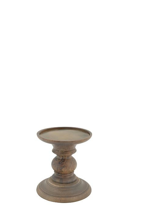 Wooden Candle stand Finn S natural