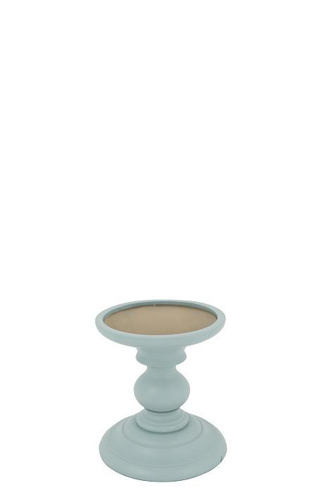 Wooden Candle stand Finn S old blue
