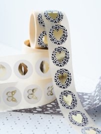 Stickers ||Leopard Gold ||10 stuks