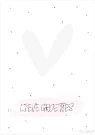 Postkaart ||Lieve groetjes