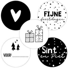 Stickers    Sint/Kerst    5 varianten    10 stuks