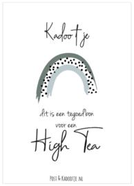 Tegoedbon || Kadootje ||  High Tea  ||Regenboog || zwarte dot