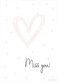 Postkaart ||Miss you!