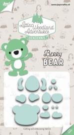 JoyCrafts   Little Woodland Adventures   Berry Bear   Snijmal   Nieuw