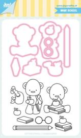 JoyCrafts|| Stempels & snijmal|| Bear School|| Nieuw