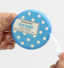 Dubbelzijdig Tape 9mm * 3m ||+Navul ||blauw