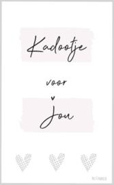 Minikaart ||Kadootje voor jou ||ruiten hartjes