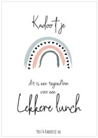 Tegoedbon || Kadootje ||  Lekkere Lunch ||Regenboog || zwarte hartjes