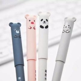 Set van 4 || Uitwisbare Pen Kawaii + 8 extra vulling & gum