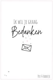 Postkaart || Ik wil je graag bedanken