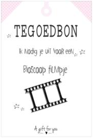 Tegoedbon ||Bioscoop ||roze