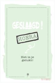 Postkaart Geslaagd! groen
