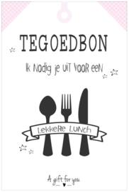 Tegoedbon ||Lekkere Lunch ||roze