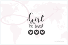 Postkaart A Girl...