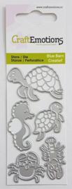 CraftEmotions||Snijmal||Turtle & Seahorse|| Nieuw
