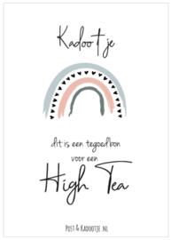 Tegoedbon    Kadootje     High Tea   Regenboog    zwarte hartjes