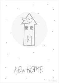Postkaart ||New home