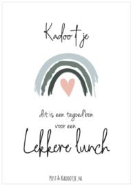 Tegoedbon || Kadootje ||  Lekkere Lunch ||Regenboog || Roze hart