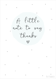 Postkaart ||A little note to say thanks