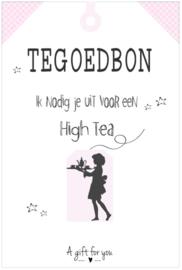 Tegoedbon ||High Tea ||roze