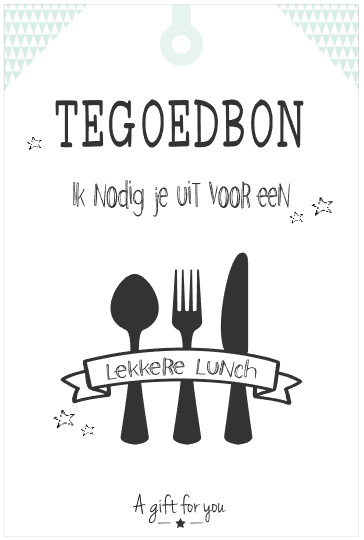 Tegoedbon   Lekkere Lunch   groen