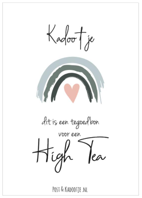 Tegoedbon    Kadootje     High Tea    Regenboog    Roze hart