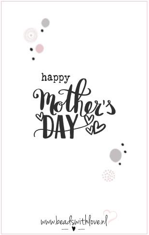 Wenskaart voor armband ||Happy mothers day