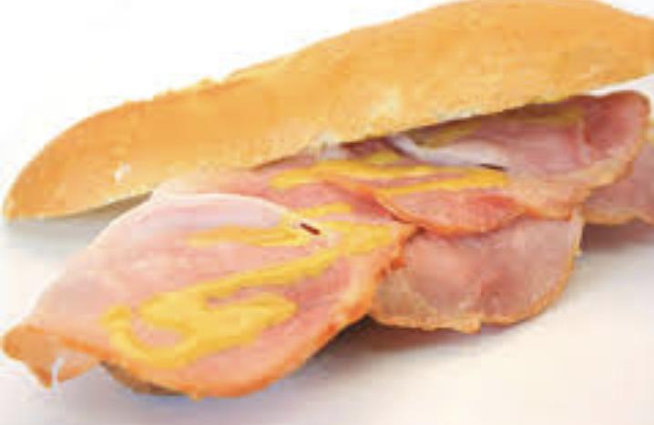 Pistolet Warme Ham met honing-mosterdsaus