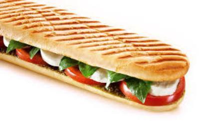 Panini pesto/mozzarella/tomaat